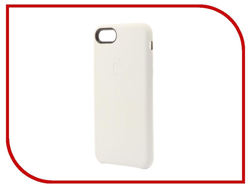 Аксессуар Чехол Krutoff Leather Case для iPhone 7 White 10762