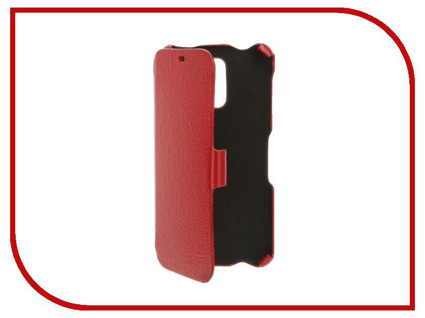Аксессуар Чехол BQ BQS-5520 Mercury Cojess Ultra Slim Book Экокожа флотер Red<br>