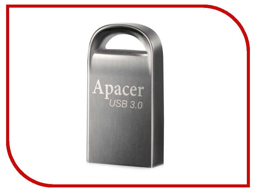 USB Flash Drive 16Gb - Apacer AH156 Grey USB 3.0 AP16GAH156A-1 usb накопитель apacer ah117 16gb silver rp ap16gah117s 1
