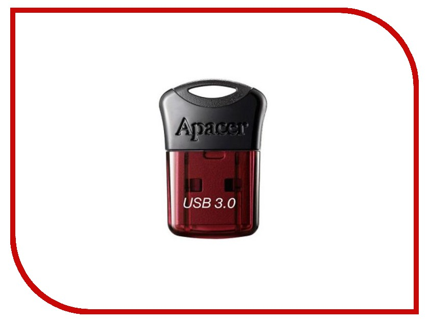 USB Flash Drive 16Gb - Apacer AH157 Red USB 3.0 AP16GAH157R-1 usb накопитель apacer ah117 16gb silver rp ap16gah117s 1