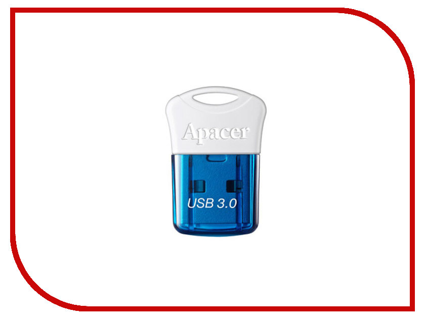 USB Flash Drive 16Gb - Apacer AH157 Blue USB 3.0 AP16GAH157U-1 usb накопитель apacer ah117 16gb silver rp ap16gah117s 1