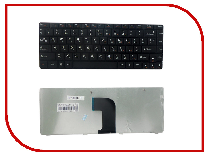 Клавиатура TopON TOP-100471 для Lenovo IdeaPad E45/U450/U450A/U450P Series Black клавиатура topon top 99934 для asus x551ca x551cav x551ma black