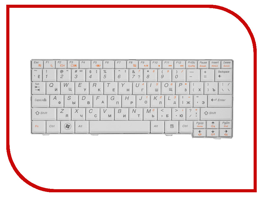 Клавиатура TopON TOP-77202 для Lenovo IdeaPad S10-2 Series White<br>
