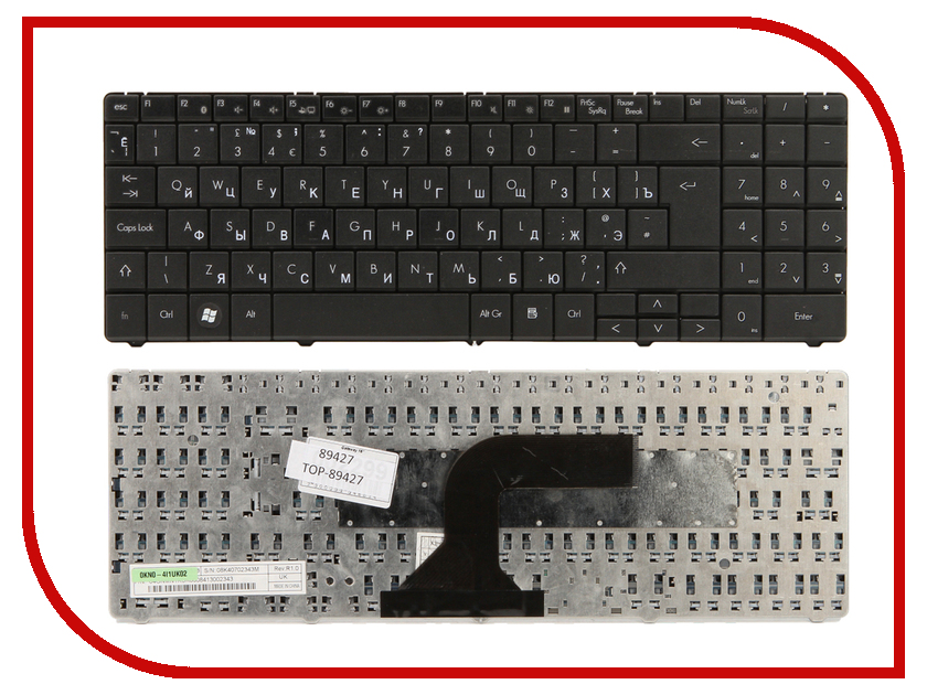Клавиатура TopON TOP-89427 для Packard Bell EasyNote ST85/ST86/MT85/TN65 Series Black<br>