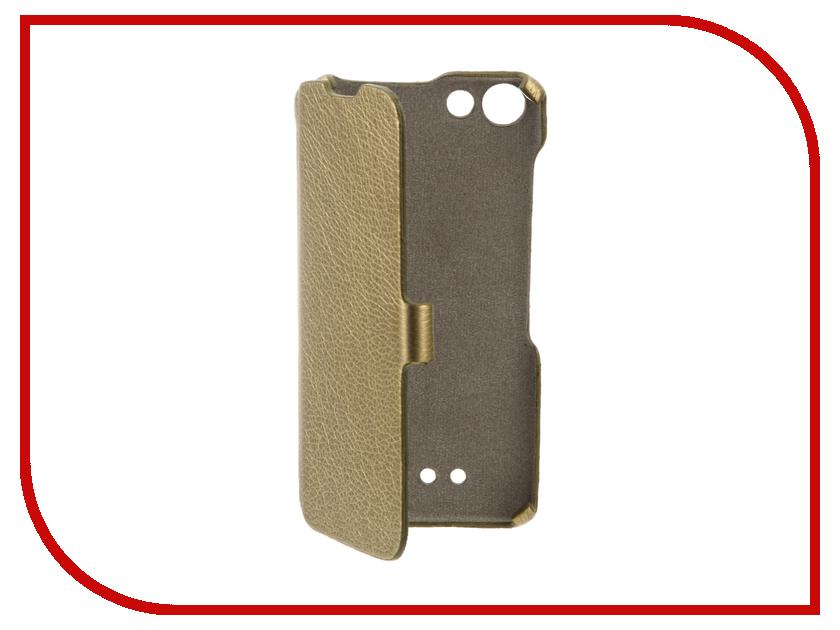 Аксессуар Чехол BQ BQS-5065 Choice Cojess Ultra Slim Book Экокожа флотер Gold<br>