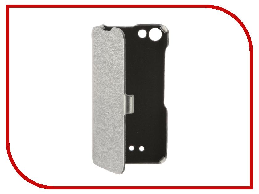 Аксессуар Чехол BQ BQS-5065 Choice Cojess Ultra Slim Book Экокожа флотер Silver<br>
