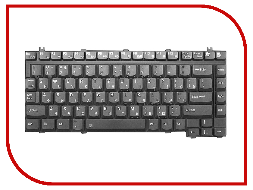 Клавиатура TopON TOP-69760 для Toshiba Satellite A10/A15/A20/A25/A30/A40/A50/A55/A70/A75/A80 Series Black<br>