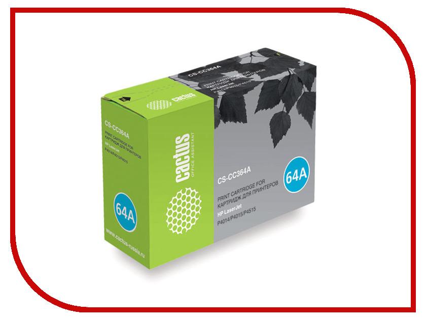 Картридж Cactus CS-CC364A для HP LJ P4014/P4015/P4515 Black тонер картридж cactus cs ep22s