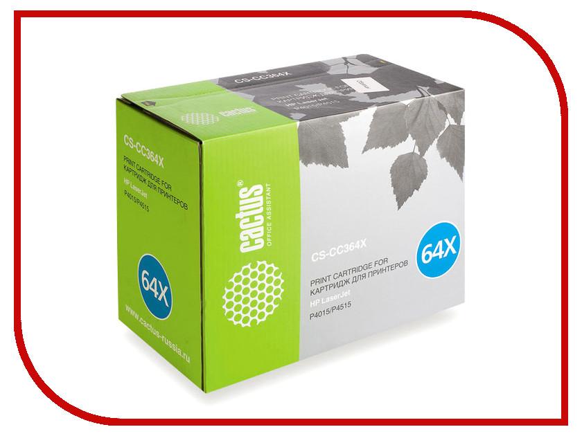 Картридж Cactus CS-CC364XS для HP LJ P4015/P4515 Black<br>