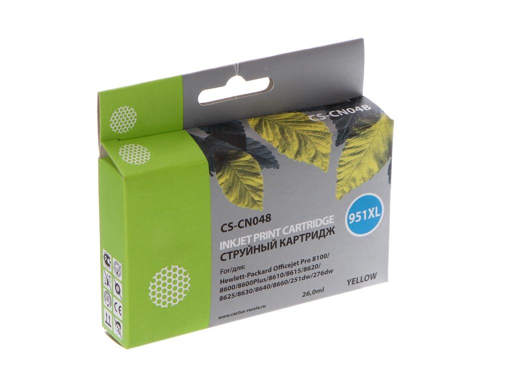 Картридж Cactus CS-CN048 Yellow для HP DJ Pro 8100/8600