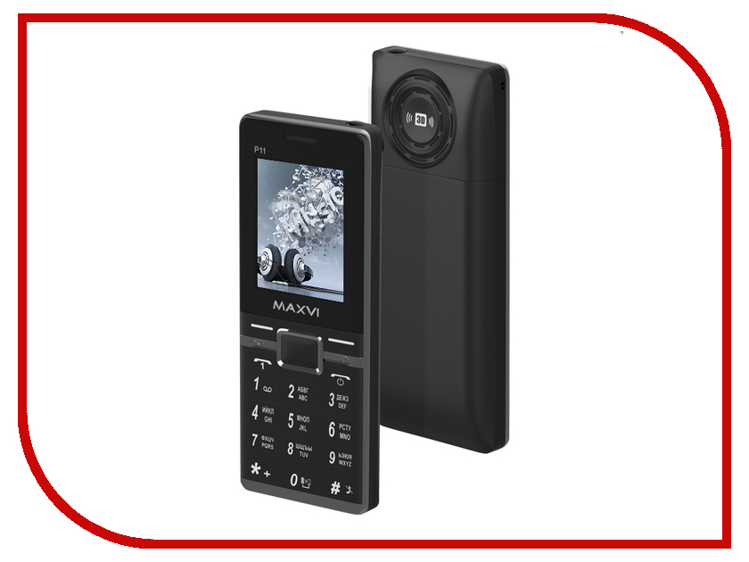Сотовый телефон Maxvi P11 Black смартфон bq mobile bq 5059 strike power grey matt