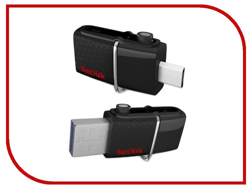 USB Flash Drive 64Gb - SanDisk Dual Drive SDDD2-064G-GAM46 sandisk glide mini usb 3 0 flash drive cz43 up to 130m s 16gb 32gb 64gb 128gb pen drive for smartphones