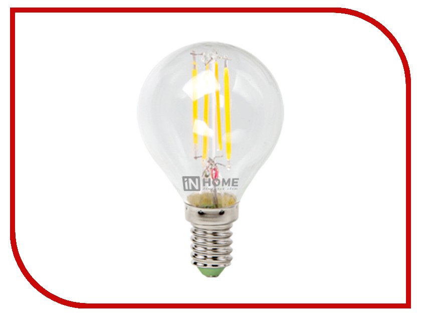 IN HOME - Лампочка IN HOME LED-ШАР-deco 5W 3000K 230V 450Lm E14 Clear 4690612007687