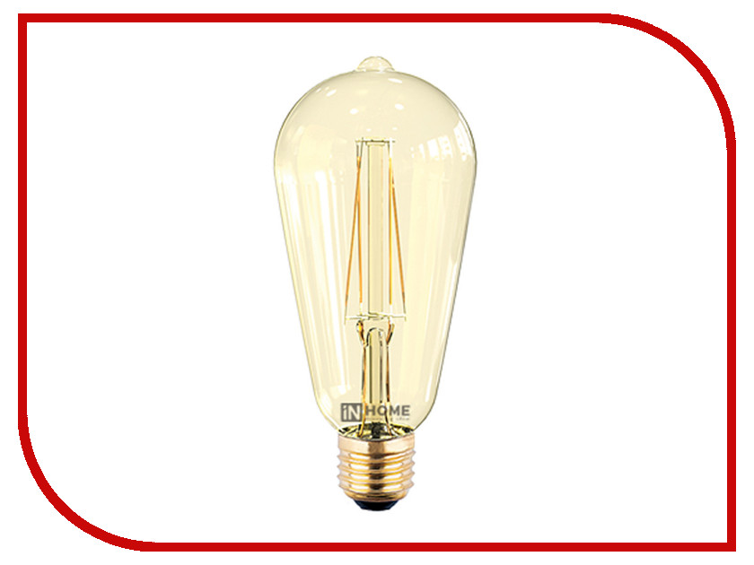 Лампочка IN HOME LED-ST64-deco 7W 3000K 230V 630Lm E27 Gold 4690612008097