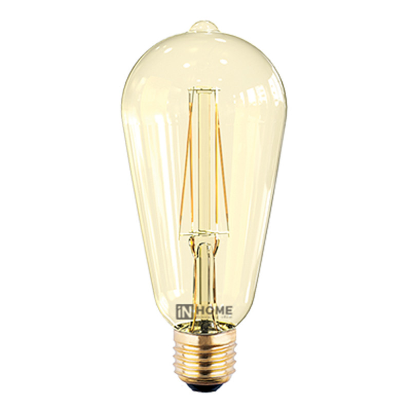 Лампочка In Home LED-ST64-deco E27 7W 3000K 230V 630Lm Gold 4690612008097