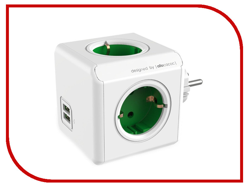 цена на Разветвитель Allocacoc Original USB DE Green 1202GN/DEOUPC