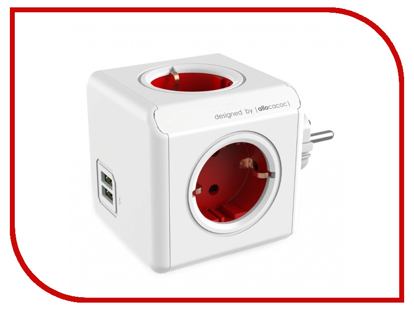 Аксессуар Allocacoc PowerCube Original USB DE Red 1202RD/DEOUPC<br>