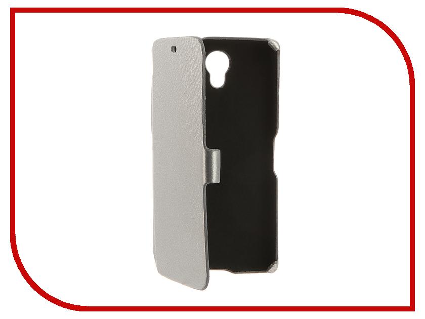 Аксессуар Чехол BQ BQS-5502 Hammer Cojess Ultra Slim Book Экокожа флотер Silver<br>