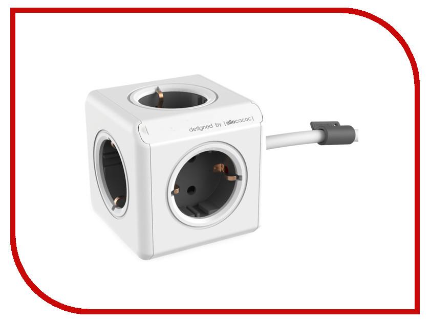 Удлинитель Allocacoc Extended DE 1.5m Grey 1300GY/DEEXPC allocacoc cablefix white держатель для кабеля 8 шт