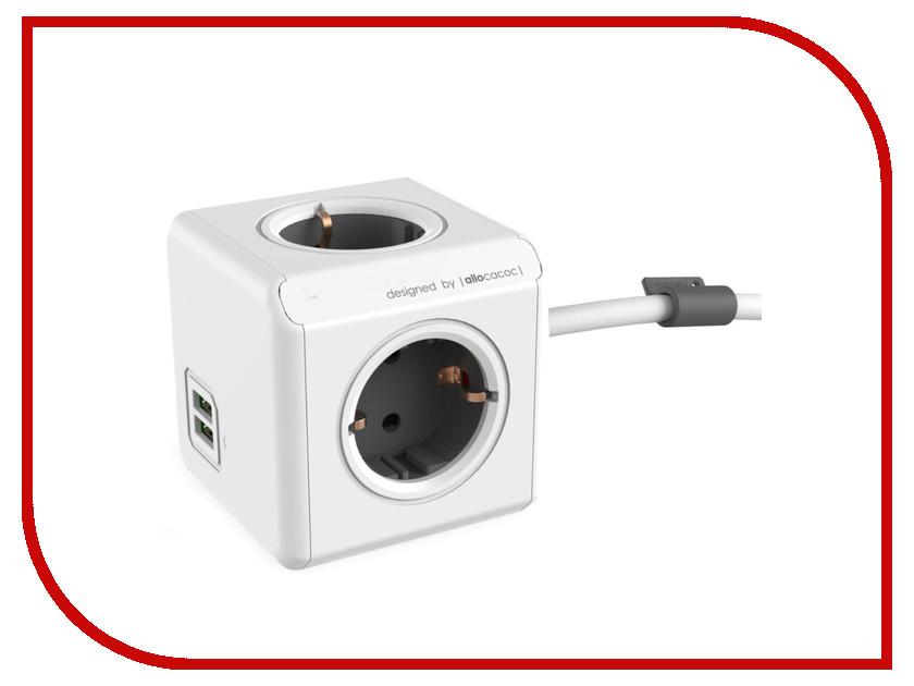 Удлинитель Allocacoc Extended USB DE 1.5m Grey 1402GY/DEEUPC удлинитель allocacoc extended remote 1 5m black 1513bk euexrm