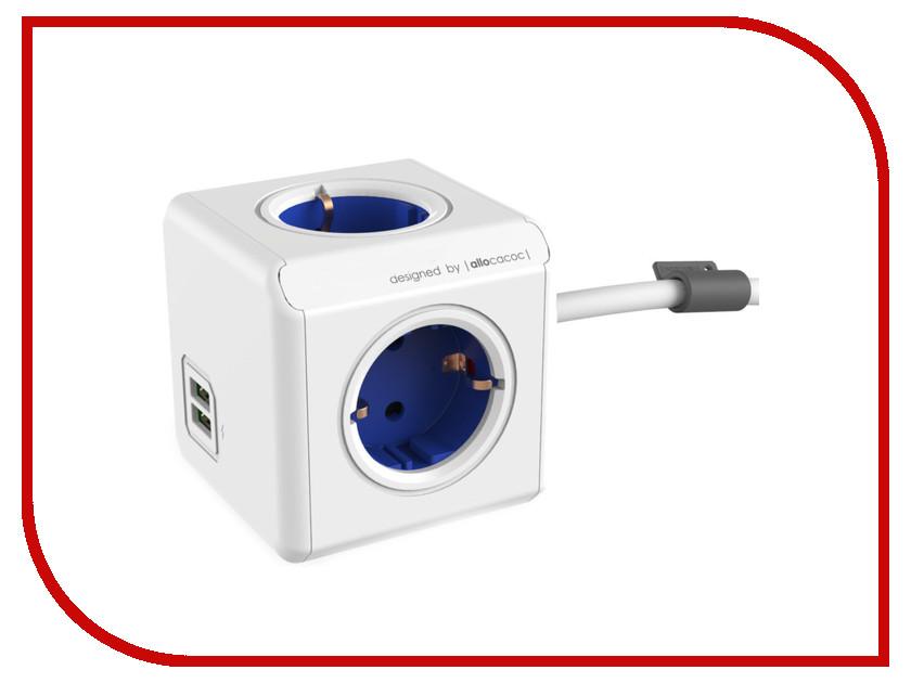 Удлинитель Allocacoc Extended USB DE 1.5m Blue 1402BL/DEEUPC удлинитель allocacoc extended remote 1 5m black 1513bk euexrm