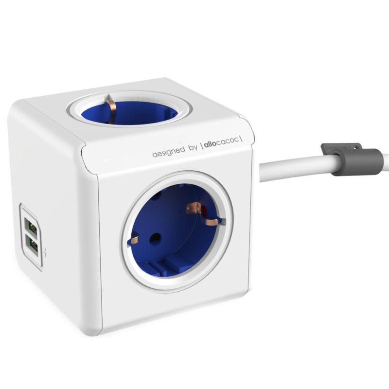 Удлинитель Allocacoc Extended USB DE 1.5m Blue 1402BL/DEEUPC