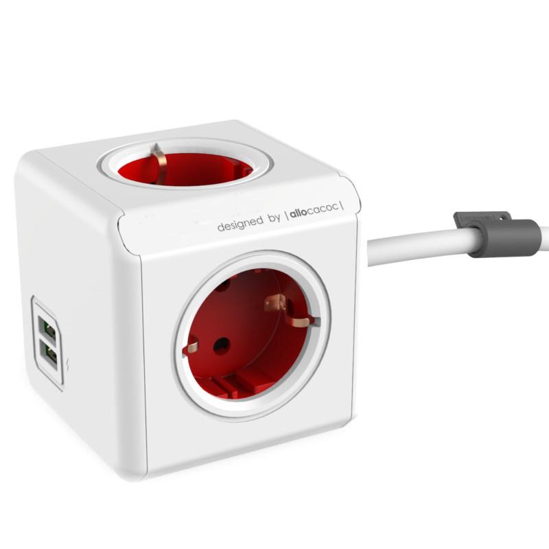 Удлинитель Allocacoc Extended USB DE 1.5m Red 1402RD/DEEUPC
