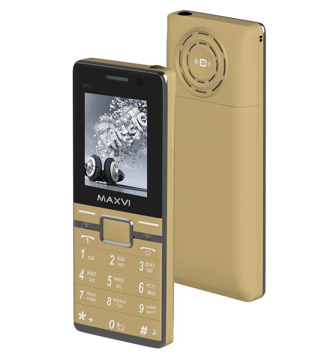 Сотовый телефон Maxvi P11 Gold