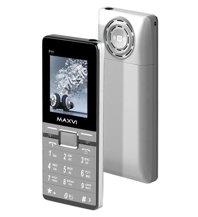 Сотовый телефон Maxvi P11 Silver сотовый телефон maxvi m6 silver black