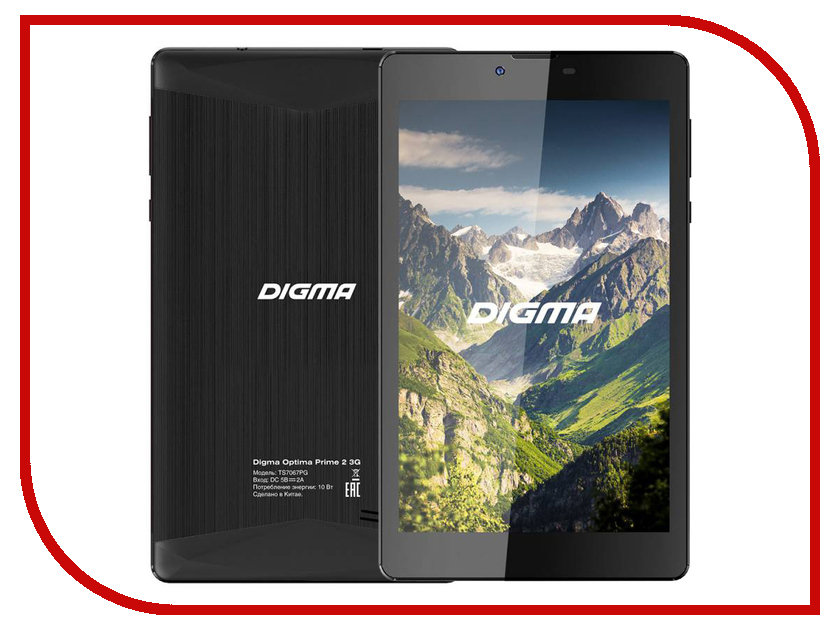 Планшет Digma Optima Prime 2 3G Black TS7067PG (Spreadtrum SC7731 1.2 GHz/512Mb/8Gb/Wi-Fi/3G/Bluetooth/GPS/Cam/7.0/1280x800/Android) 388007 планшет dexp ursus 7mv4 3g black 0807193 spreadtrum 5735 1 2 ghz 1024mb 8gb wi fi 3g bluetooth gps cam 7 0 1024x600 android