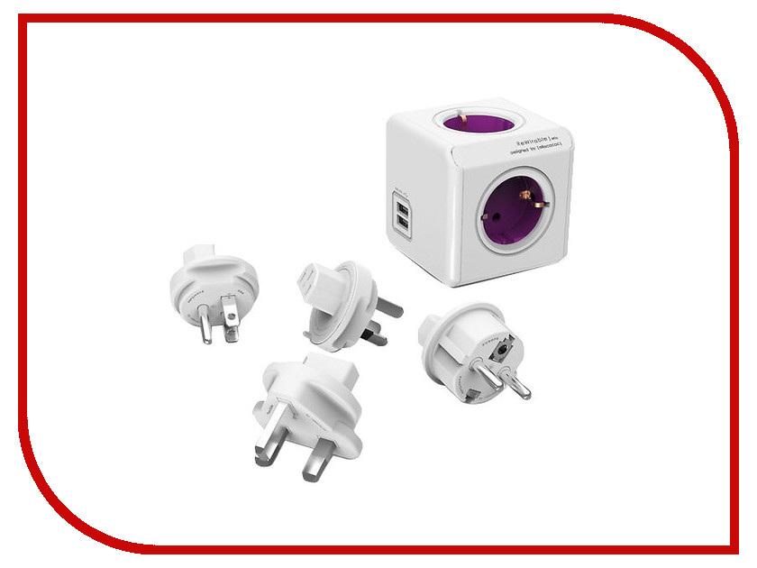 Аксессуар Переходник Allocacoc PowerCube ReWirable USB 1810/DERU4P / 1700/DERUPC