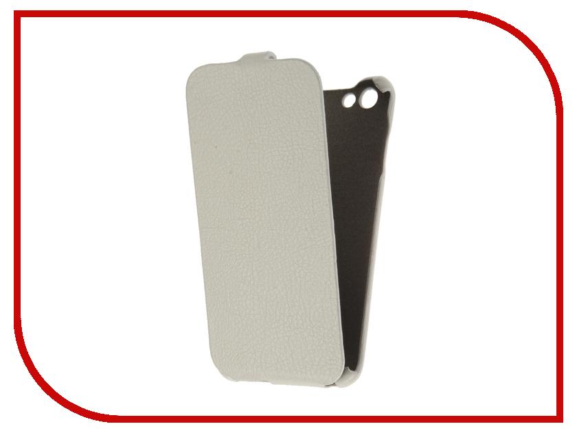 все цены на Аксессуар Чехол BQ BQS-5505 Amsterdam Cojess Ultra Slim Экокожа флотер White онлайн