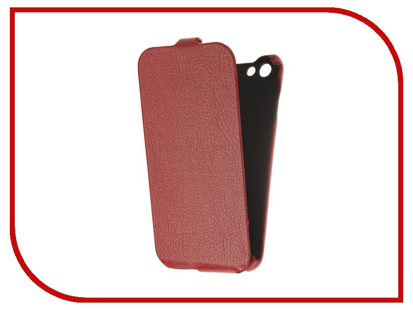 Аксессуар Чехол BQ BQS-5505 Amsterdam Cojess Ultra Slim Экокожа флотер Red<br>