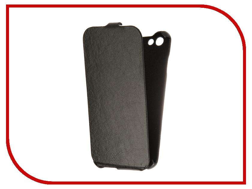 все цены на  Аксессуар Чехол BQ BQS-5505 Amsterdam Cojess Ultra Slim Экокожа флотер Black  онлайн