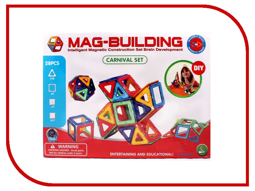 Игрушка Конструктор Mag-Building MG001 28 магнитов<br>