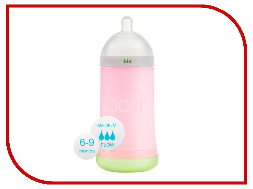 Бутылочка Adiri NxGen Medium Flow 6-9 месяцев 281ml Pink AD002PK-1965C