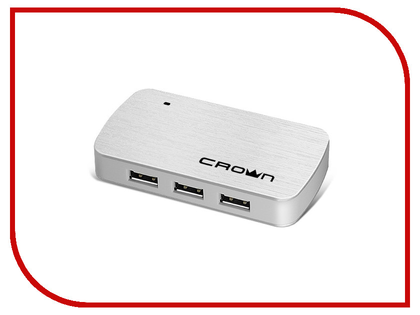 Хаб USB Crown CMH-B23 Silver