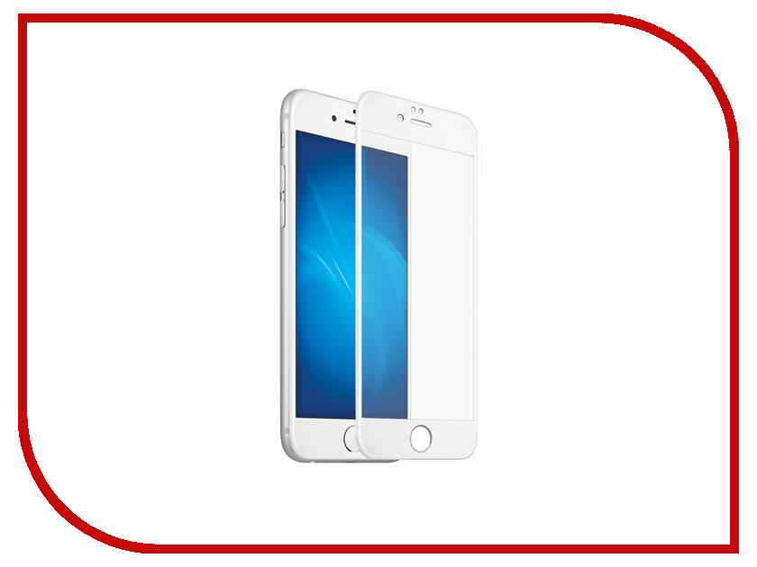 Аксессуар Защитное стекло Onext для iPhone 7 с рамкой White 41215<br>