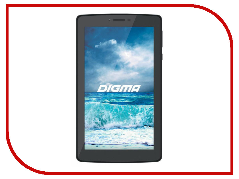 Планшет Digma Plane 7010M 4G Black PS7075ML (MediaTek MTK8735M 1.0 GHz/1024Mb/8Gb/4G/Wi-Fi/GPS/Cam/7.0/1024x600/Android)