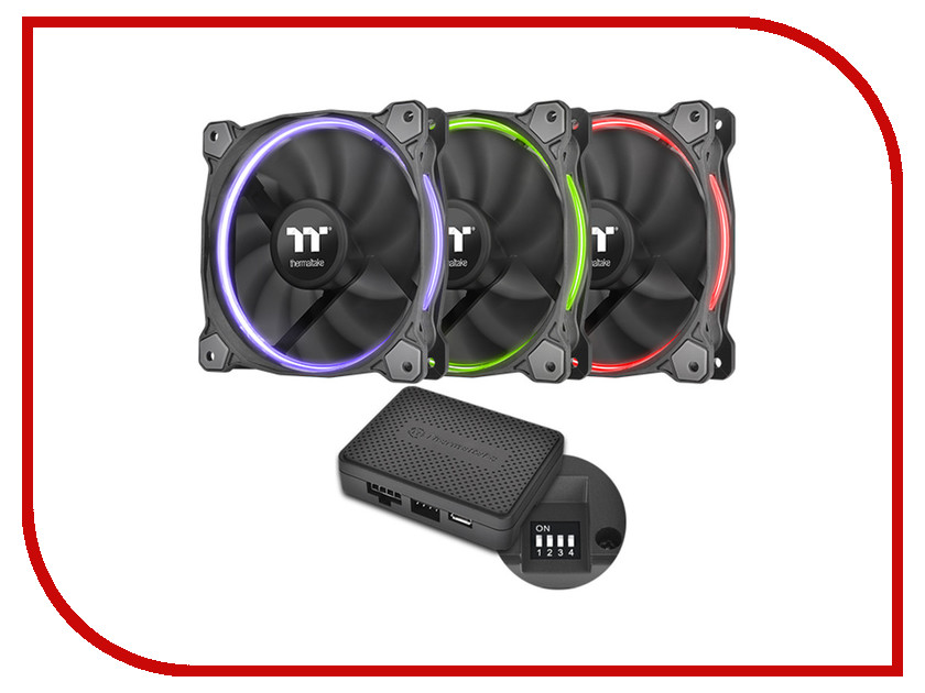 Вентилятор Thermaltake Riing 12 LED 256 Color CL-F049-PL12SW-A<br>