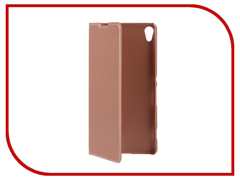 Аксессуар Чехол Sony Xperia XA BROSCO Rose Gold XA-BOOK-ROSEGOLD<br>