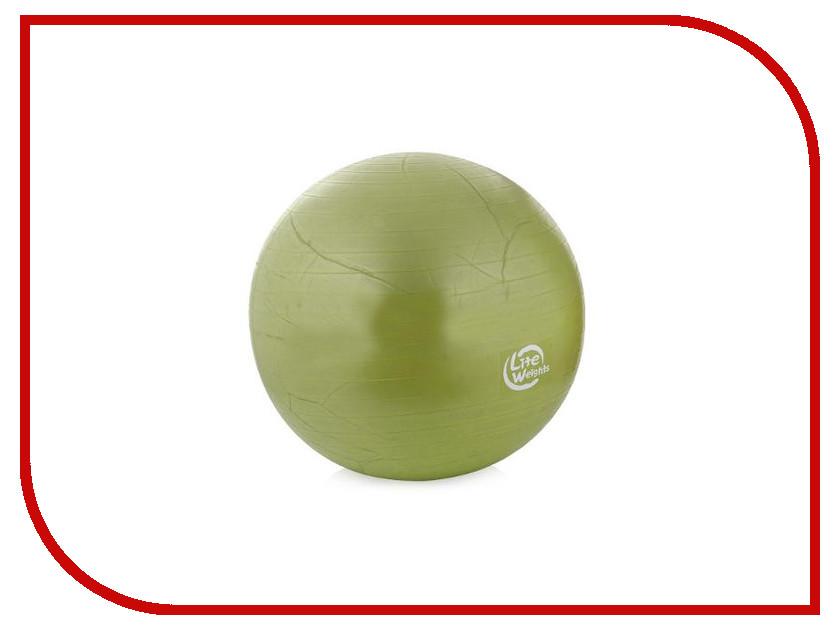 Мяч Lite Weights 65cm Green 1866LW гантель неопреновая lite weights цвет серый 3 кг
