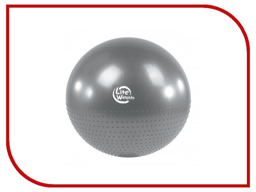 Мяч Lite Weights 65cm Silver BB010-26 гантель неопреновая lite weights цвет серый 3 кг