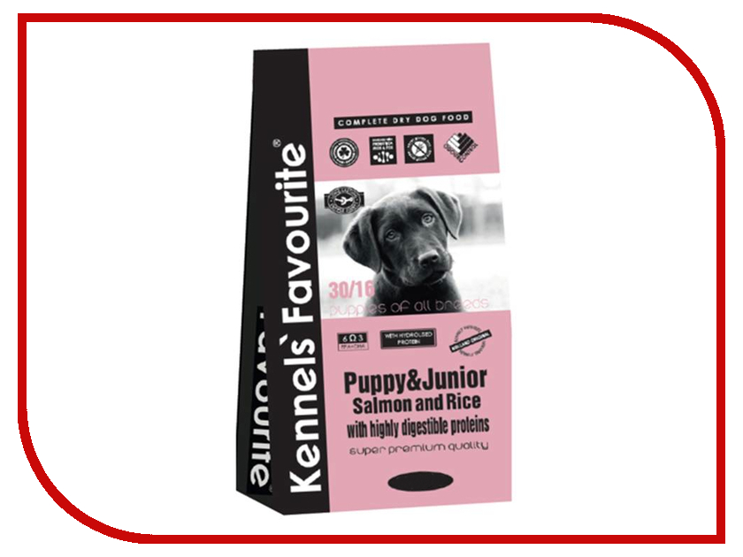 Корм Kennels Favourite Puppy &amp; Junior Salmon and Rice 3kg<br>