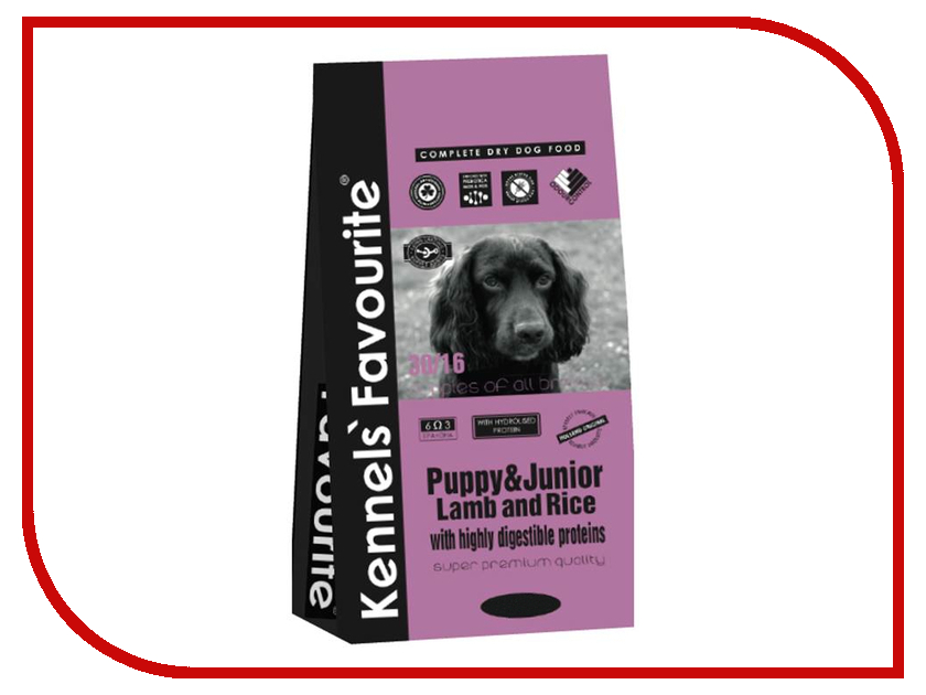 Корм Kennels Favourite Puppy &amp; Junior Lamb and Rice 3kg<br>