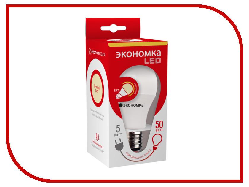 Лампочка Экономка A60 5W E27 230V 3000K Eco_LED5WA60E2730<br>