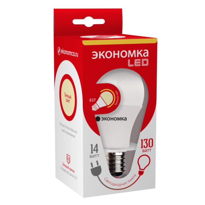 Лампочка Экономка E27 A60 14W 230V 3000K EcoL14WA60230vE2730