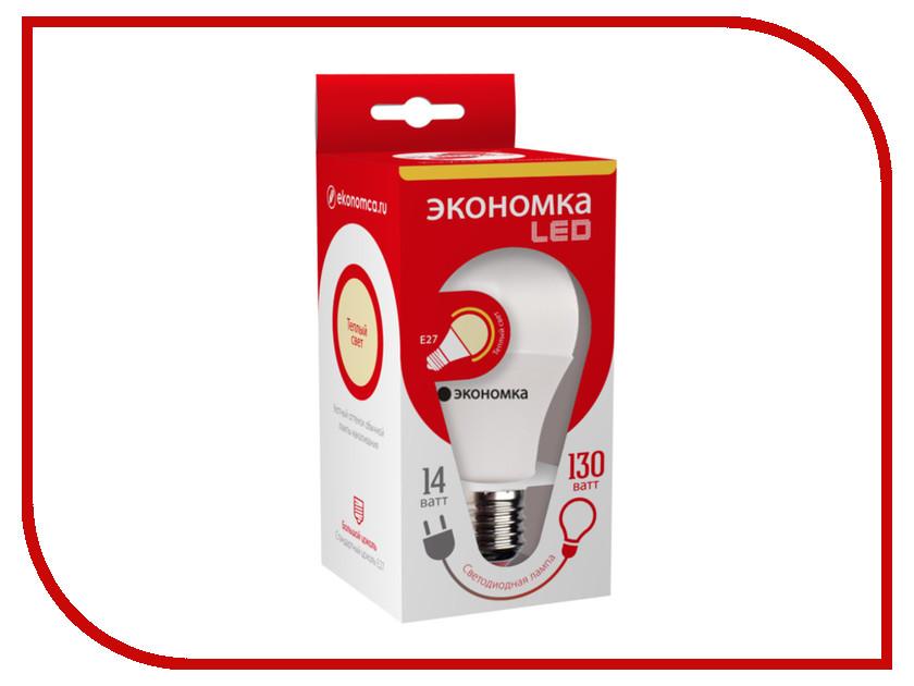 Лампочка Экономка A60 14W E27 230V 6500K EcoL14WA60230vE2765 лампочка экономка свеча на ветру 5w e27 230v 6500k eco led5wcwe2765
