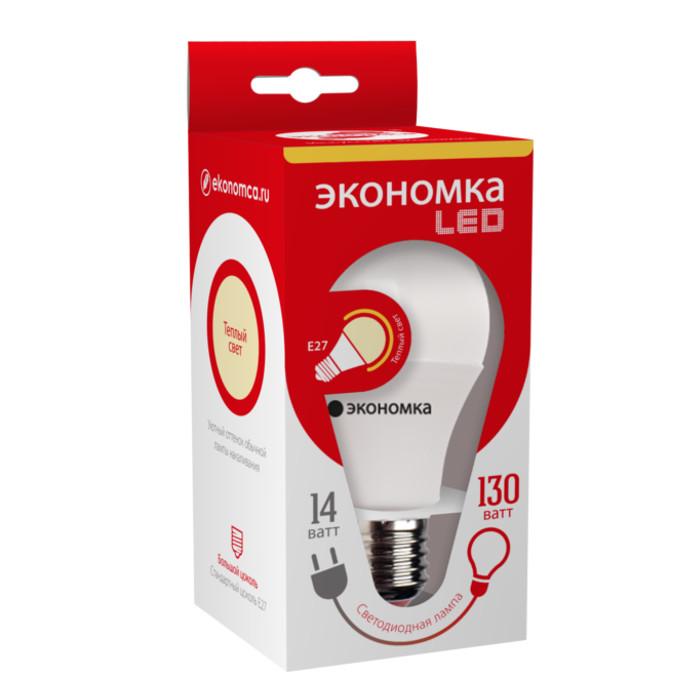 Лампочка Экономка E27 A60 14W 230V 6500K EcoL14WA60230vE2765