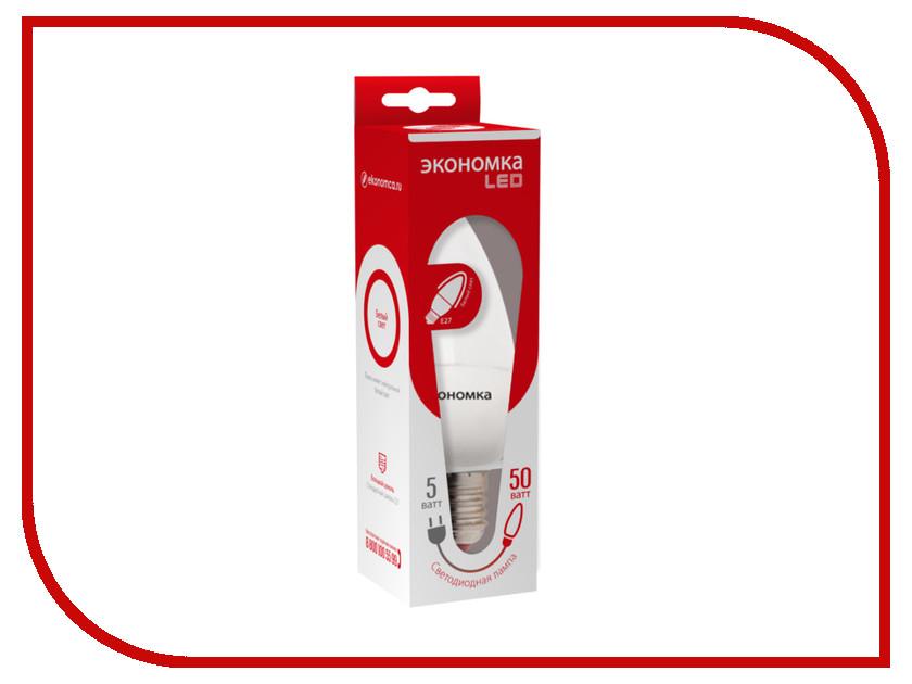 Лампочка Экономка Свеча 5W E27 230V 4500K Eco_LED5WCNE2745 упаковка ламп 3 шт экономка рефлектор r50 6вт е14 230v 4500k белый свет